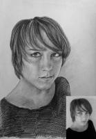 Портрет олівцем по фотографії. Замовити портрет олівцем на папері_42
