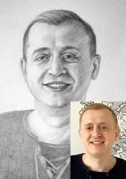 Портрет олівцем по фотографії. Замовити портрет олівцем на папері_6