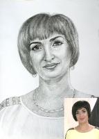 Pencil portrait on paper_1