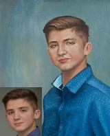 Portrait oil on canvas_16