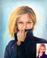 Portrait oil on canvas_41